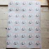 ★STEP1★イギリスのラッピングペーパー 自転車