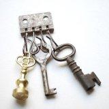 ★STEP3★ THE LETTERS オリジナル赤錆メッキ キーホルダー金具