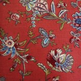 THE LETTERS ヨーロッパのリネン オランダ Chintz fabric【Waterland】RED 140×50cm