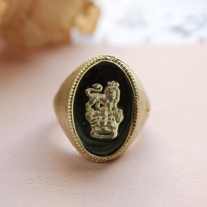 画像4: SEALING WAX SIGNET RING  CROWN&LION 〜王冠とライオン〜