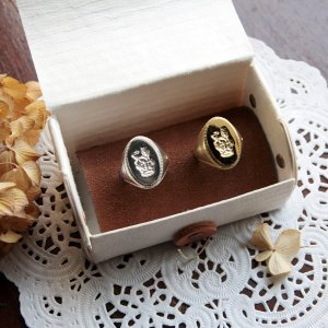 画像3: SEALING WAX SIGNET RING  CROWN&LION 〜王冠とライオン〜