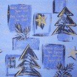 ドイツのシルキーペーパー もみの木とメッセージ クリスマスラッピングに