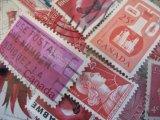★STEP1★世界の古切手シリーズ あかいろ 10枚セット