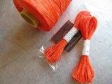 ★STEP1★蝋引き紐 ラッピング用 10M オレンジ/イエロー