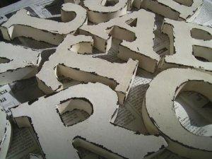 画像1: ★限定セール★ブリキのアルファベットアンティークホワイト A-Z
