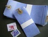 ★STEP1★蝋引き荷札 蝋引き紐つき ブルー
