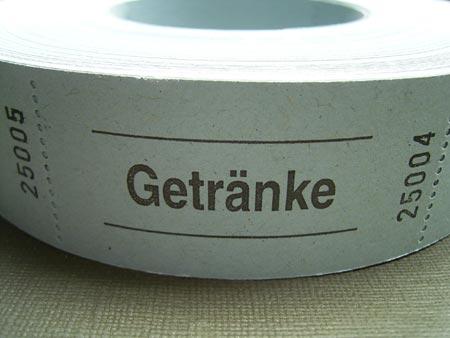 ドイツの引き換え券 Getranke