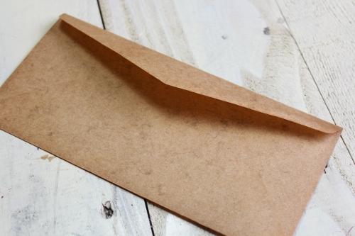 ★STEP1★ロウ引き 洋型封筒 10枚 ブライダル雑貨 活版雑貨 封蝋雑貨