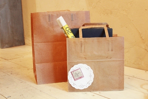 ★STEP1★ロウ引き手提げ紙袋 10枚〜 ブライダル雑貨 活版雑貨 封蝋雑貨
