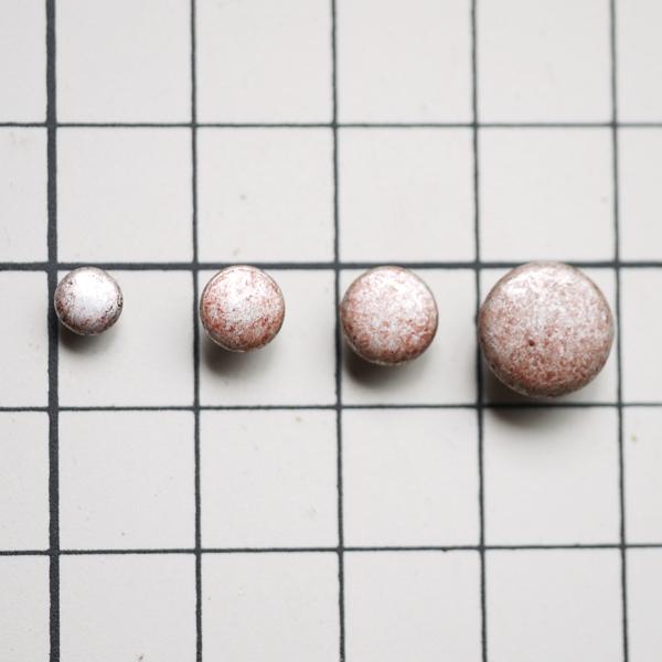 THE LETTERS オリジナル赤錆メッキ スタッズ 両面カシメ ・鋲