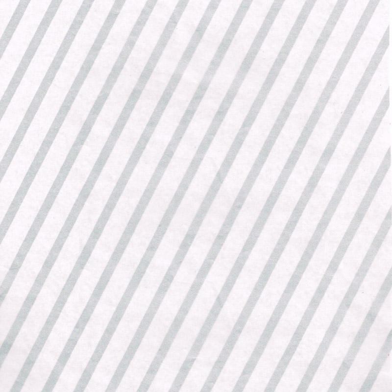 ストライプ ロウ引き紙 白×銀