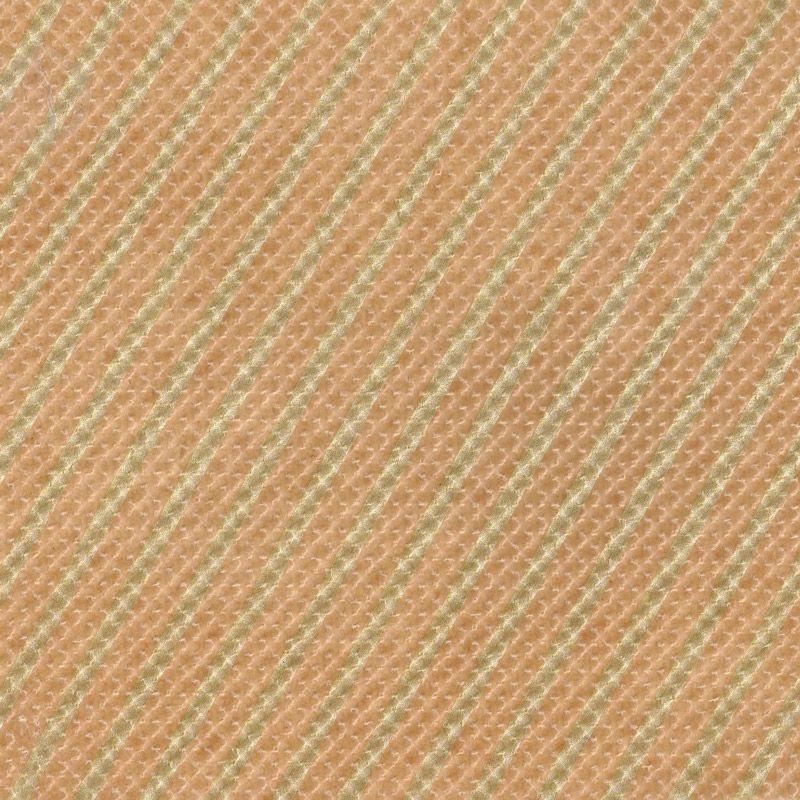 ストライプエンボス ロウ引き紙 茶×金