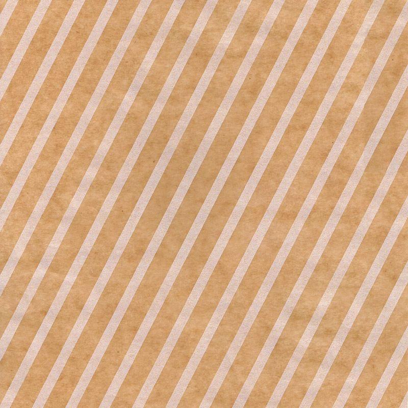 ななめストライプ ロウ引き紙 茶×白