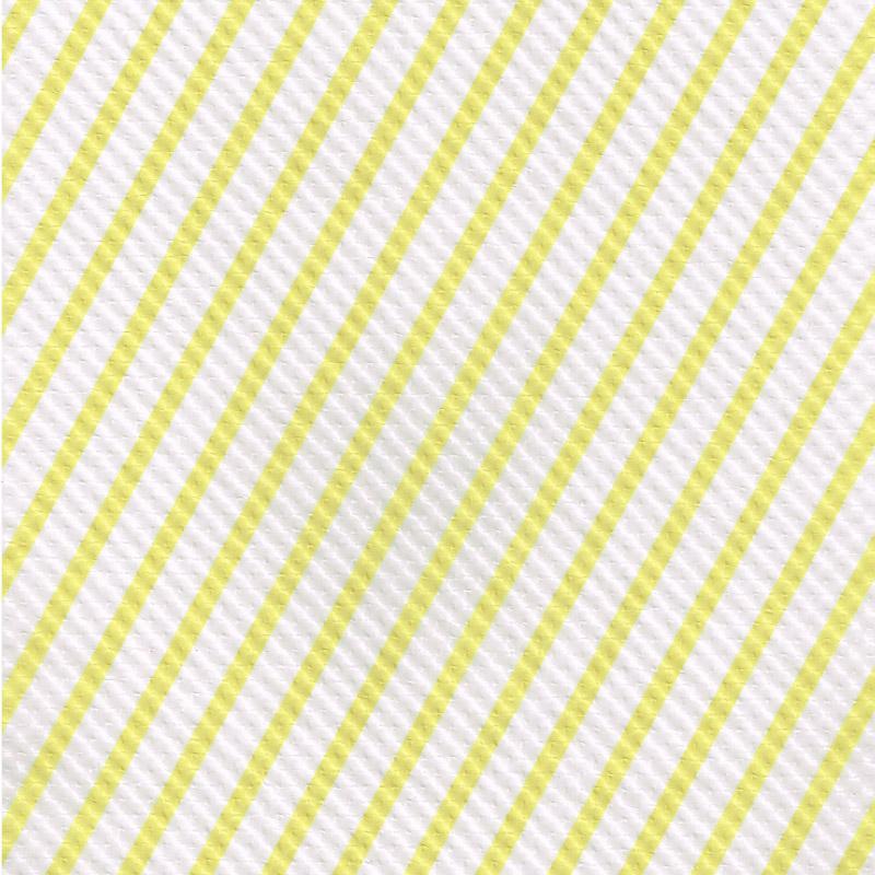ストライプエンボス ロウ引き紙 白×黄
