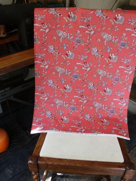 THE LETTERS ヨーロッパのリネン オランダ Chintz fabric【Waterland】REDブライダル雑貨 活版雑貨 封蝋雑貨