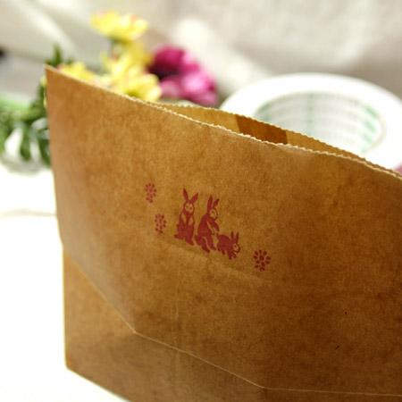 ★STEP1★ロウ引き袋 rabit ブライダル雑貨 活版雑貨 封蝋雑貨