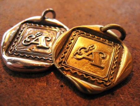 画像1: 封蝋ペンダント シルバー・真鍮 A 封蝋ペンダント シルバー・真鍮 A[linda-a