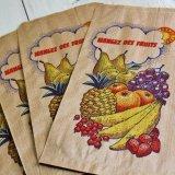 ★STEP1★フランスのマルシェ袋 フルーツ 5枚入