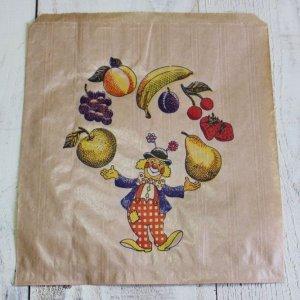 画像2: ★STEP1★フランスのマルシェ袋 ピエロと果物 5枚入