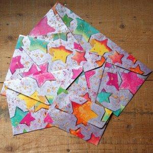 画像1: ★STEP1★THE LETTERS ドイツの包装紙封筒 スターA