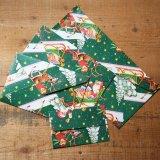 ★STEP1★THE LETTERS ドイツの包装紙封筒 サンタとトナカイ