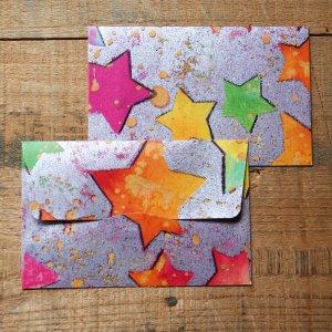 画像3: ★STEP1★THE LETTERS ドイツの包装紙封筒 スターA