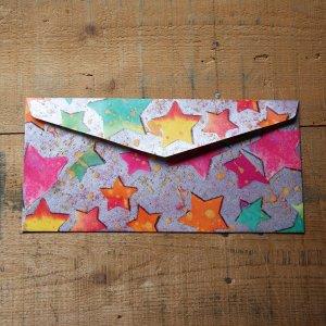 画像5: ★STEP1★THE LETTERS ドイツの包装紙封筒 スターA