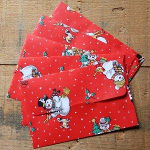 画像2: ★STEP1★THE LETTERS ドイツの包装紙封筒 スノーマンA