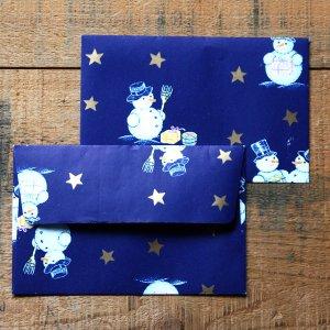 画像3: ★STEP1★THE LETTERS ドイツの包装紙封筒 スノーマンB