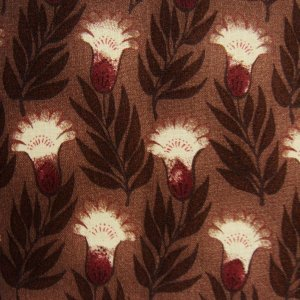 画像3: THE LETTERS ヨーロッパのリネン オランダ Chintz fabric【Ducth Garden 】BROWN 140×50cm