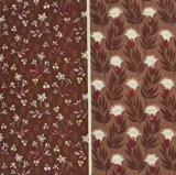 THE LETTERS ヨーロッパのリネン オランダ Chintz fabric【Ducth Garden 】BROWN 140×50cm