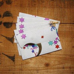 画像4: ★STEP1★THE LETTERS ドイツの包装紙封筒 星と月とプレゼント