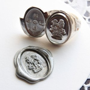 画像2: SEALING WAX LOCKET RING  CROWN&LION 〜王冠とライオン〜