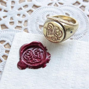 画像2: ORDERMADE SEALING WAX SIGNET RING