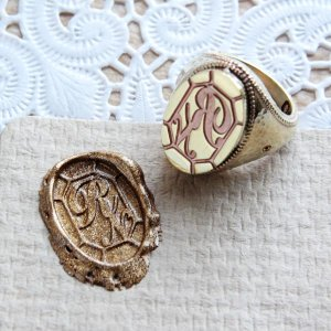 画像5: ORDERMADE SEALING WAX SIGNET RING