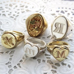 画像1: ORDERMADE SEALING WAX SIGNET RING