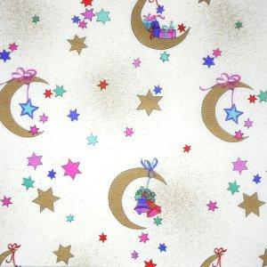 画像1: ドイツのシルキーペーパー 月とプレゼント