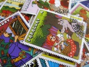 画像1: ★STEP1★世界の古切手シリーズ おとぎ話 10枚セット