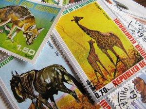 画像1: ★STEP1★世界の切手シリーズ 動物 10枚セット