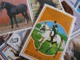 ★STEP1★世界の古切手シリーズ 馬 10枚セット
