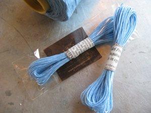 画像1: ★STEP1★蝋引き紐 ラッピング用 10M グリーン/ブルー